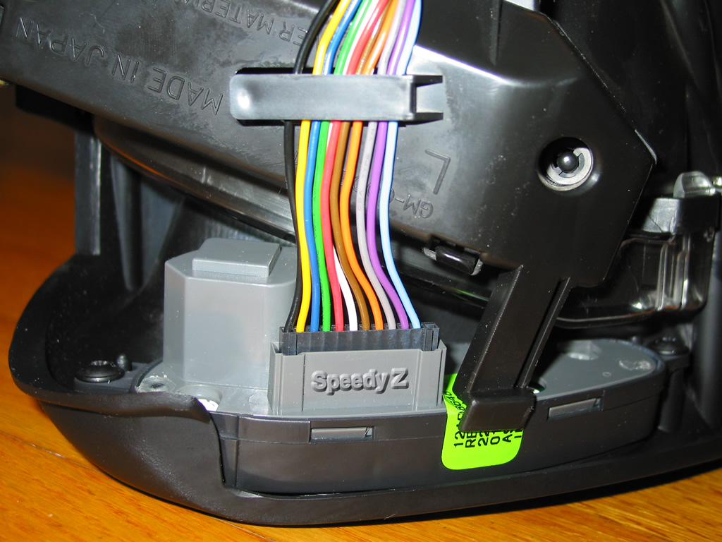 The first 7 wires are the same as a non HUD cable, you only have to add the  last 4 wires.